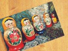 旧ソ連 カードカレンダー マトリョーシカ 1978年