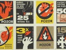 チェコスロバキア時代 マッチラベル 火災防止 10枚組