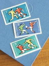 ブルガリアの切手 3枚セット サッカー 1970年