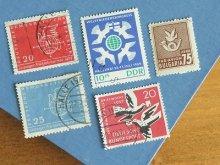ドイツ ブルガリアの切手 5枚セット ハト
