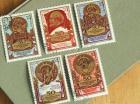 旧ソ連(CCCP)の切手 5枚セット ソ連50周年