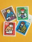 ドイツの切手 4枚セット 子供たち 1974年