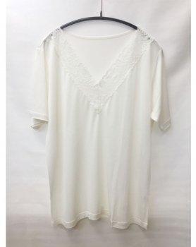 さらりとしたシルクの半袖インナー LLサイズ ホワイト