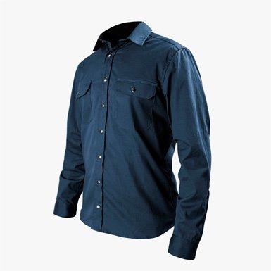 ミッションワークショップ(Missionworkshop) サンソン(Sansom) オーバーシャツ ブルー(Blue)  Sサイズ(日本人Mサイ…