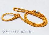 柴犬リード3 Plus 極太タイプ ピュアオレンジ(引き綱)