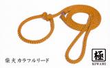柴犬カラフルリード【極】 キャロットオレンジ(引き綱)