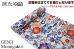 源氏物語-紅型調浴衣 綿70%麻30% 反物久-4