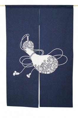 暖簾-のれん 綿100% 刺し子のれん瓢箪8932 130cm n-1031 日本製