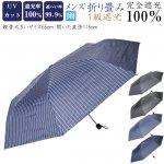 傘 メンズ 折り畳み 完全遮光100% UVカット加工付 大きい65cm 5047-5048