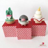 【ハンドメイド】小鳥のインテリア♪Happi Happiハピハピ「迎春・桜文鳥」お正月飾り