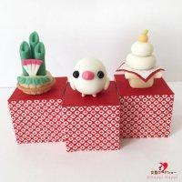 【ハンドメイド】小鳥のインテリア♪Happi Happiハピハピ「迎春・白文鳥」お正月飾り