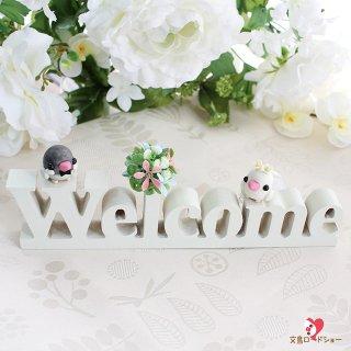 【ハンドメイド】Happi Happiハピハピ「ウェルカムボード・ウエディング白文鳥&桜文鳥」ホワイト