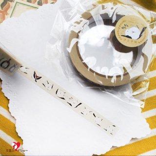 【Creative motion】ぴよ手帖「転がるシマエナガ」シマエナガのマスキングテープ/たっぷり大巻