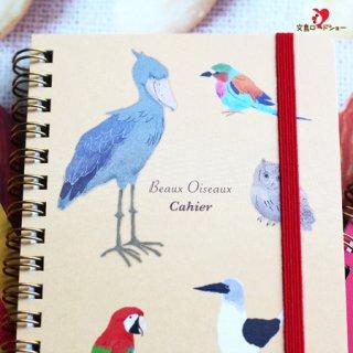 【オリエンタルベリー】ハシビロコウ・キウイetc.世界の鳥ノート/ベージュ/Beaux Oiseaux