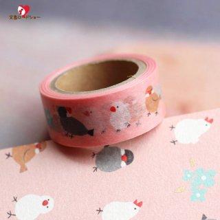 【生産終了】伊予和紙*文鳥のマスキングテープ*桜ピンク*「ふわり」和紙クラフトテープぶんちょう