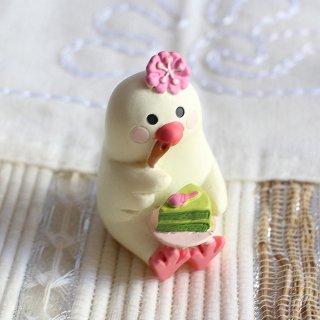 【生産終了・在庫限り】DECOLE デコレ文鳥スイーツ 抹茶ケーキ concombreコンコンブル 文鳥茶屋