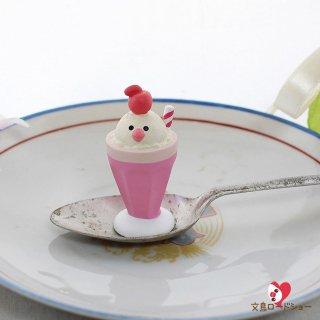 【生産終了・在庫限り】DECOLE デコレ文鳥スイーツ 桃色クリームソーダ concombreコンコンブル 文鳥茶屋