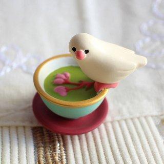 【生産終了】DECOLE デコレ文鳥スイーツ 桜茶 concombreコンコンブル 文鳥茶屋
