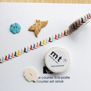 【mt×mina】【bird petit・mix 】1.5cm幅*ミナ ペルホネン・渡り鳥たち マスキングテープ/北欧デザイン1pc