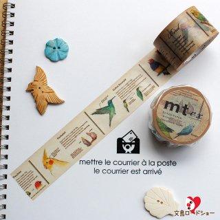 【mt ex】【図鑑・鳥 】3cm幅*色々な鳥を図説したマスキングテープ/1pc