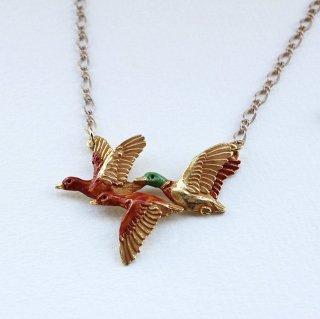 Palnart Poc【カモの旅立ち 】鴨の秋ネックレス 渡り鳥*野鳥