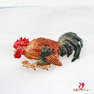 【雑誌掲載】Palnart Poc 数-SUU-【雄鶏 】ニワトリの帯留め *専用豪華ボックス入り