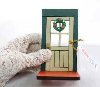 2019クリスマス・DECOLE デコレ*ミニチュア用インテリア【クリスマスのドア】アップルパーティー concombreコンコンブル X'mas