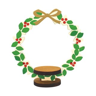 クリスマス・DECOLE デコレ*ミニチュア用インテリア【リースフレーム】洋菓子COMBRE concombreコンコンブル X'mas