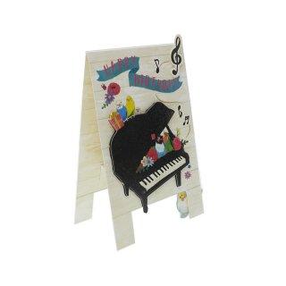 【残り僅か!】【Beaux Oiseux】オリエンタルベリー・インコ&文鳥のグリーティングカード / KANBANバースデーカード/Song of Birds
