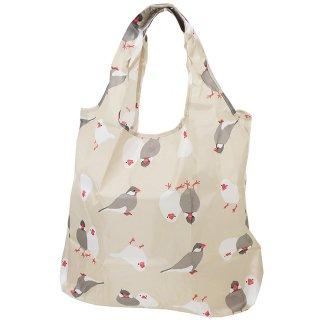 【ベストセラー・残り僅か!】【さくらとぶんた】折りたたみショッピングバッグ さくぶんづくし*文鳥のエコバッグ