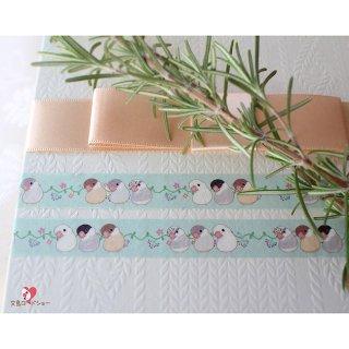 粘土作家 Happi Happi【文鳥】ピーちゃんのマスキングテープ