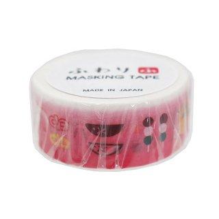 【鳥グッズと一緒に♪】濱伊予和紙*ピンクのグラデーション「ふわり」和紙デコテープ/和菓子マスキングテープ*幅1.8cm