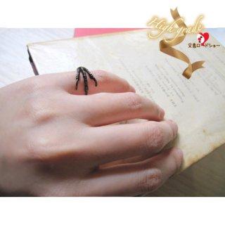 【送料込み♪】【Art collectors掲載】【専用BOX付き】Molly Tippett ブンチョウの足リング(ピンキーリング)/ブラック/フリーサイズ