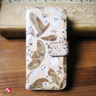 【生産終了・残り僅か!】【CP送料込】「メンフクロウの行動図説 / スマホケース / iPhone6/6s専用」 / Molly Tippett  / PalnartPoc雑貨