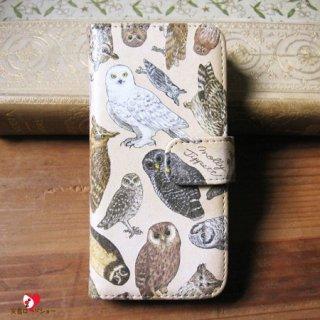 【生産終了・ラスト2!】【CP送料込】「フクロウ目の鳥類 / スマホケース / iPhone5/5s専用」Molly Tippett  / PalnartPoc雑貨【雑誌掲載商品】