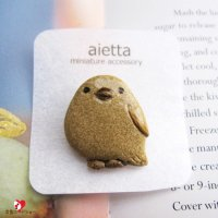aietta・シマエナガのブローチ*ナチュラル陶器バージョン<img class='new_mark_img2' src='https://img.shop-pro.jp/img/new/icons47.gif' style='border:none;display:inline;margin:0px;padding:0px;width:auto;' />