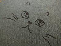 【綿麻キャンバス 生地】ネコ猫ラメ*コットンリネン*gray*2D�