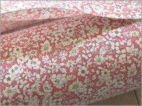 【スケア 生地】草花ボタニカルフラワー*pink*2C