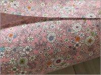 【スケア 生地】草花ボタニカルフラワー*pink*4C
