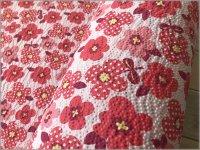【リップル 生地】ポプリン*レトロポップフラワー*rose pink*5C