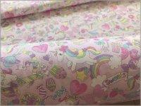 【CB 生地】ユニコーン*sweets*カラフルポップ*pink*2B