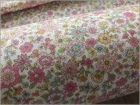 【ダブルガーゼ 生地】ボタニカル花柄*offwhite pink*33A