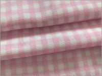 【ダブルガーゼ 生地】接触涼感*接触冷感*チェック*pink*2A