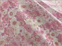 【ダブルガーゼ 生地】ボタニカルフラワー*pink*3A