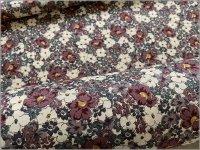 【スケア 生地】ボタニカルフラワー*花柄*purple*2D