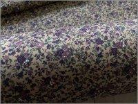 【スケア 生地】ボタニカルフラワー*小花柄*mochagray purple*1D