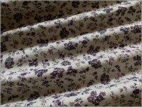 【スケア 生地】ボタニカルフラワー*草花柄*gray purple*2B