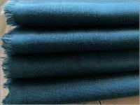 【ダブルガーゼ 生地】無地*Wガーゼ*カムフィット加工*blue green*T15