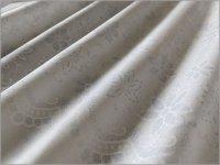 【スケア 生地】スカラップレース&フラワープリント*white*4A