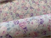 【スケア 生地】ナチュラルローズ*english garden*lavender gray*C6